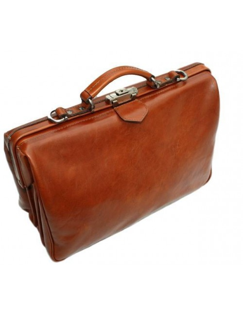 McFermoir 3 vaks laptop-dokterstas cognac met trolley band